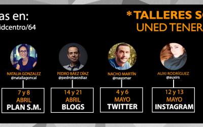 #Uned: Talleres formativos de #SocialMedia en #LaLaguna