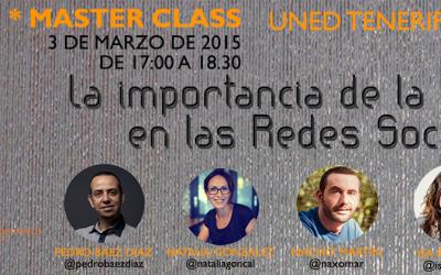 """Master Class gratuita """"La importancia de la imagen en las redes sociales"""" en la #uned"""