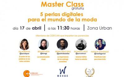 CIDECAN y Wehbe se unen para impartir una master class dentro de las «III Jornadas Moda»