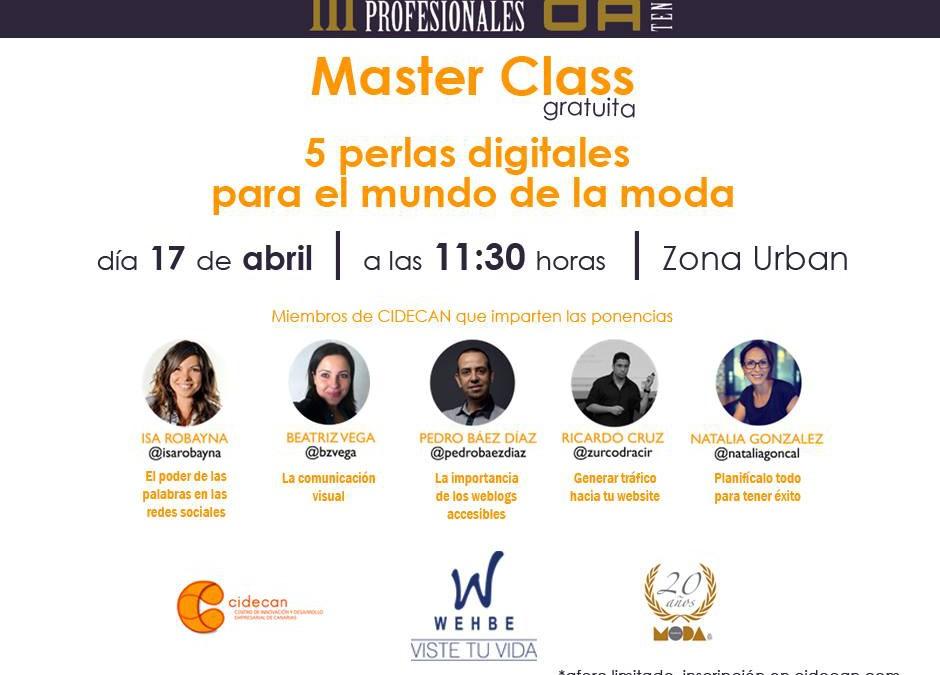 """CIDECAN y Wehbe se unen para impartir una master class dentro de las """"III Jornadas Moda"""""""