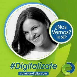 Mónica Salvador - Componente de Cidecan en el evento Canarias Digital