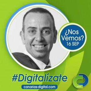 Pedro Báez Díaz - Componente de Cidecan en el evento Canarias Digital
