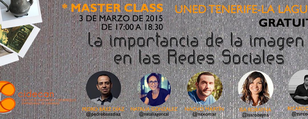 Master Class gratuita «La importancia de la imagen en las redes sociales» en la #uned