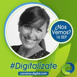 Natalia González - Componente de Cidecan en el evento Canarias Digital