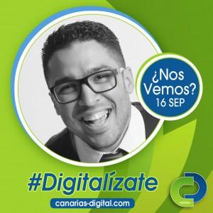 Ricardo Cruz - Componente de Cidecan en el evento Canarias Digital