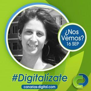 Sonia Pagés - Componente de Cidecan en el evento Canarias Digital