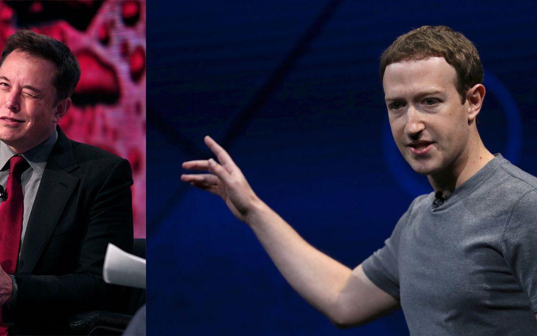 Mark Zuckerberg y Elon Musk, una rivalidad histórica en potencia.